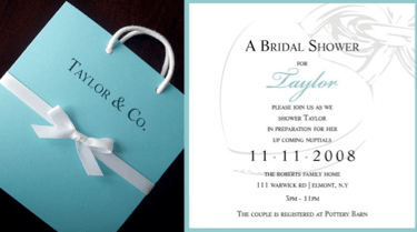 Tiffany Blue Damask Bridal Shower Invitation Printable Uprint