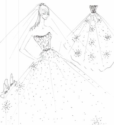 JUST IN: Our Favorite Bridal Designers Sketch Anne