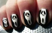 halloween nail art scary