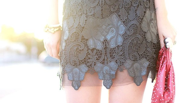 lace leather trend spring
