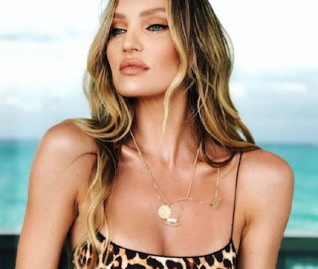 Candice Swanepoel Barely Escaped A Nip Slip In This Itty Bitty Red Bikini