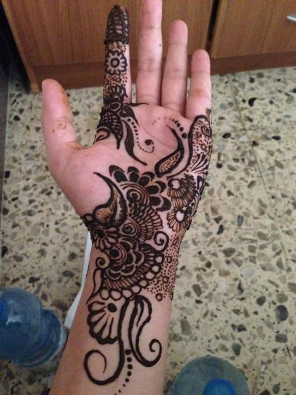 Arabic Mehndi Design Easy And Beautiful Front Hand