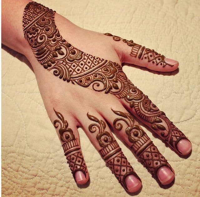 Easy Arabic Mehndi Designs For Hands Images