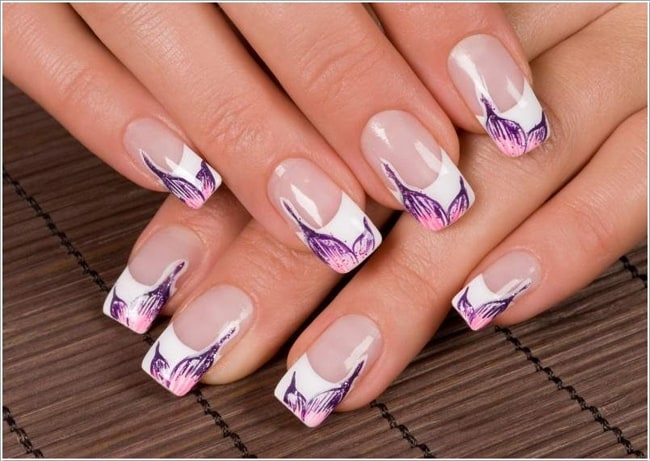 French Tip Nail Design Ideas 428