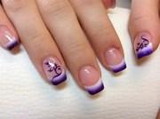 cheerful airbrush nails design