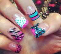 20 Cheerful Airbrush Nails Designs 2018