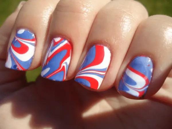 Water Marbling Nail Art Tutorial