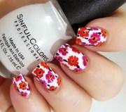 astonishing flower nail design