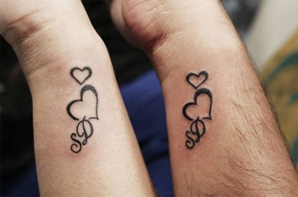 cute relationship tattoos design