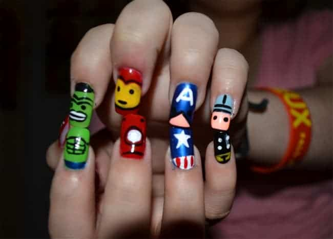 Awesome Funky Nail Art Designs Images