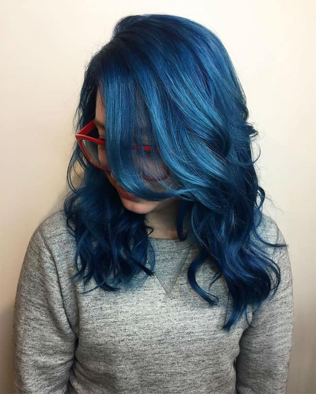Top 25 Blue Hair Streaks Ideas For Girls SheIdeas