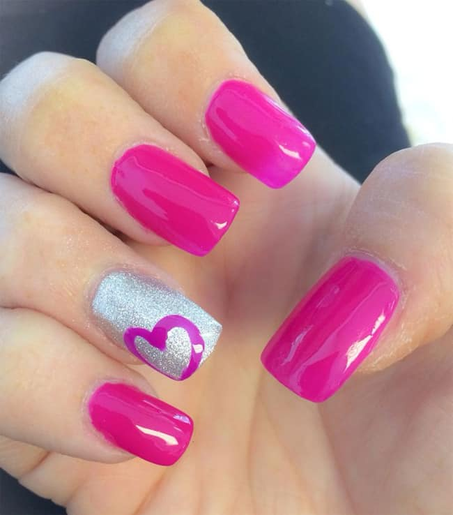 22 Cute Heart Nail Designs Images for Girls