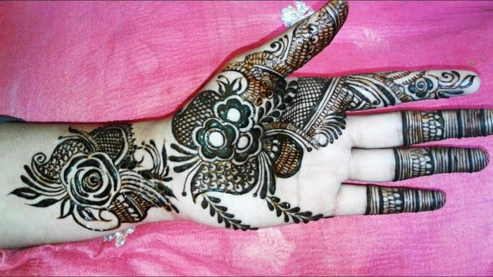 Latest Simple Arabic Mehndi Designs For Hands 2018 Images