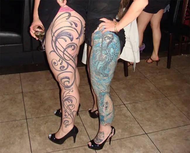 Elegant Female Sleeve Tattoos