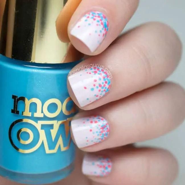 35 Inspirational Polka Dot Nail Art Designs