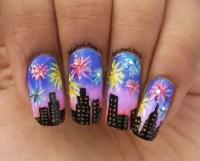 20 Romantic Fireworks Nail Art Designs - SheIdeas