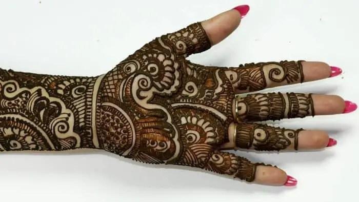 Mehandi Designs Easy Full Hand