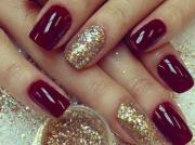 superlative maroon nails design
