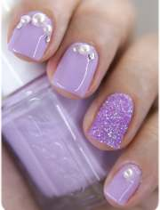 cool rhinestone nail design