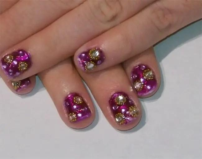 17 Cool Rhinestone Nail Designs For Inspiration SheIdeas