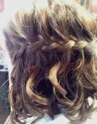 Hairstyles For Short Curly Hair With Braids - HairStyles