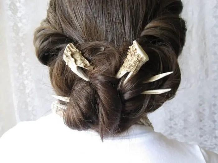 25 Easy Hair Stick Bun Ideas For Ladies SheIdeas