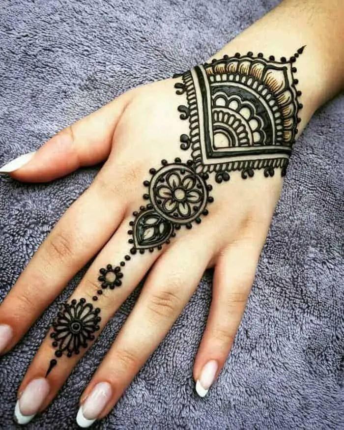 mehandi design arabic simple back hand