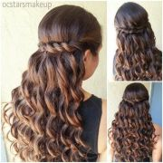 dama hairstyles quinceaneras