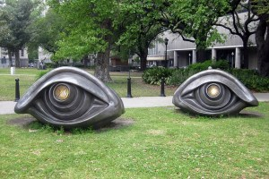 giant eye sculptures