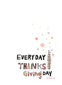 every day thanksgiving day
