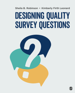 Designing Quality Survey Questions book cover