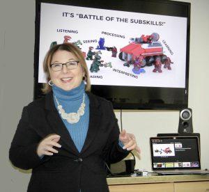 Sheila B. Robinson presenting