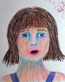 Girl. 9 x 12 Oil Pastel on paper. 2015 Sheila Delgado