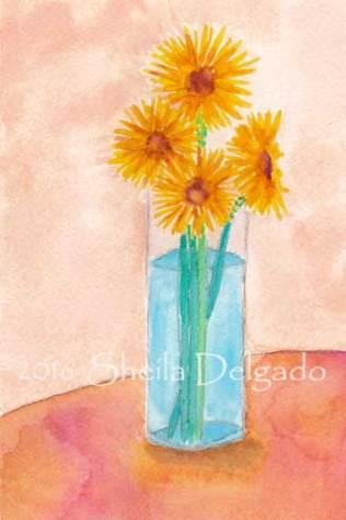 Day 24. 4 x 6 in. watercolor on 140 lb. Arches cold pressed paper. © 2016 Sheila Delgado