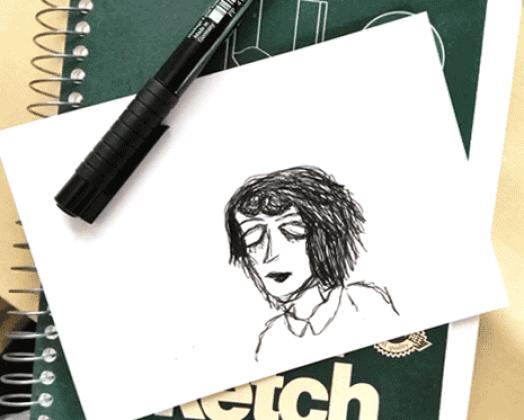 """L.Y.A. 2016 #4, """"Beth"""" Digital sketch by Michelle Swetnam."""