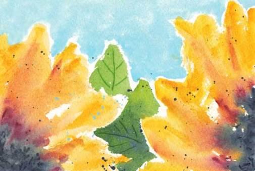 Sunflowers Postcard. Watercolor on Arches 140 lb. cold pressed paper. © 2016 Sheila Delgado