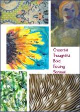 Soul art, five topic images.