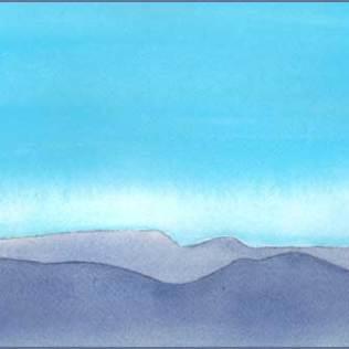 Desert Dusk. 6 x 11 in. watercolor on Arches 140 lb. cold pressed paper. © 2016 Sheila Delgado