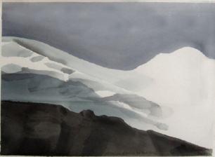 Phantom Glacier, 11 x 15, watercolour, Toni Onley