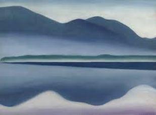 Lake George. Oil on canvas, 16 1/4 x 22, Georgia O'Keeffe.