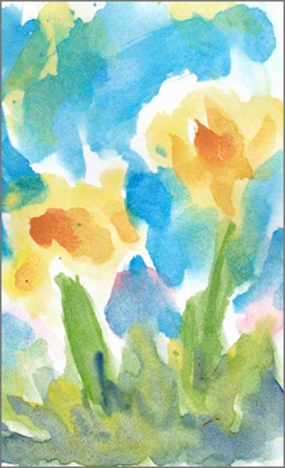 Fancy Free. 4 x 6 watercolor on paper postcard. © 2017 Sheila Delgado
