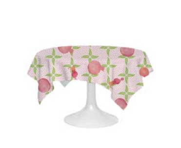 Pretty Pom Tablecloth mock-up.