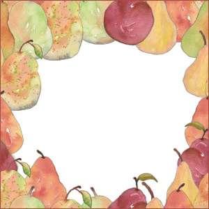 Pears pattern edges.