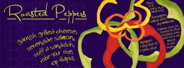 Roasted Peppers, © 2012 Sheila Delgado