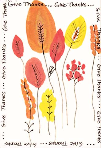 Give Thanks, postcard. Michelle Rembert. Global Art Swap November 2017