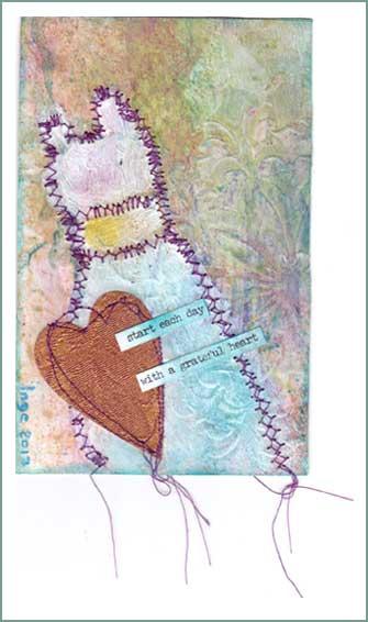 With A Grateful Heart, postcard. De Coeyer Inge, Belgium. Global Art Swap November 2017