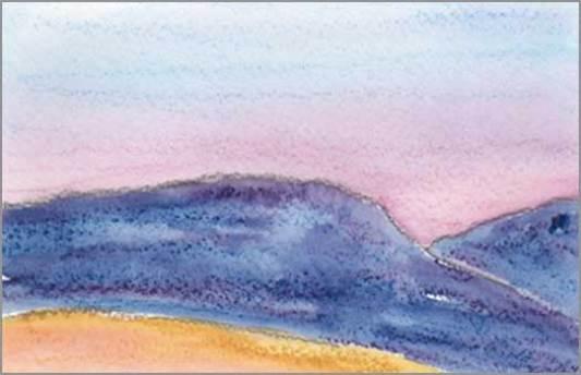 Mingus Day #52. 4 x 5.25 in. watercolor on Arches 140 lb. cold pressed paper. © 2018 Sheila Delgado.