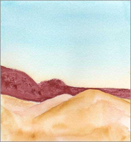 Mingus Day #62. 5.25 x 5 in. watercolor on Arches 140 lb. cold pressed paper. © 2018 Sheila Delgado.