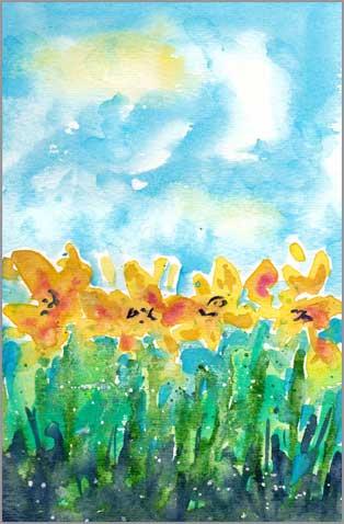 #10 WWM. 5.5 x 8 in. watercolor on Strathmore 140 lb. cold pressed paper. © 2018 Sheila Delgado.