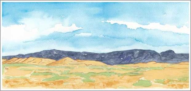 Mingus #100. 11,5 x 5.5 in. watercolor on Arches 140 lb. cold pressed paper. © 2018 Sheila Delgado.